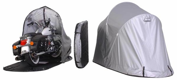 Motorcycle with cover opened/closed